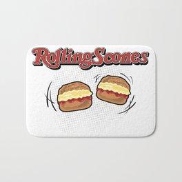 The Rolling Scones: scones and stones! Bath Mat