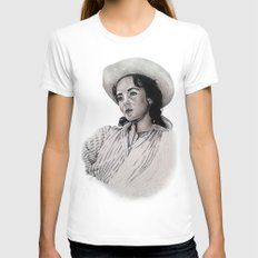 elizabeth taylor Womens Fitted Tee White SMALL