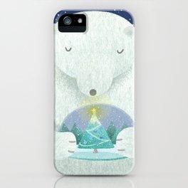 Holiday Polar Bear iPhone Case