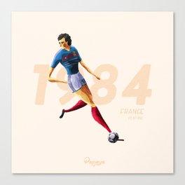 Euro History - Platini 1984 Canvas Print