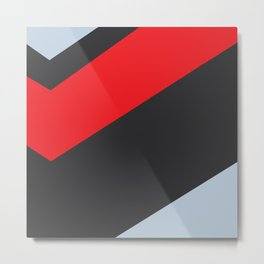 Abstract art red, blue and black Metal Print