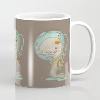 evolution Mugs featuring Evolution by Lili Batista