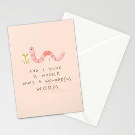 Wonderful Worm Stationery Cards