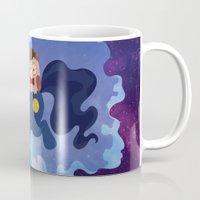 pony Mugs featuring TARDIS Pony  by Liz Leonard Does Art