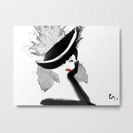 Glamorous Hat Metal Print