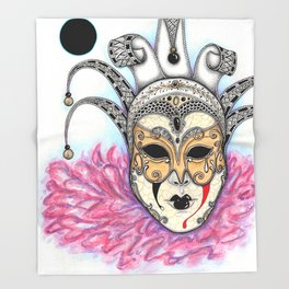 Máscara Veneciana Throw Blanket