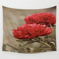 peony Wall Tapestries featuring Peony by Ines Meyer