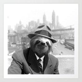 Sloth in New York Art Print