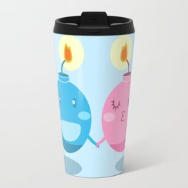 Our love is the bomb Travel Mug