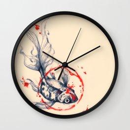 Fish Abstract Wall Clock