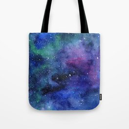 Colorful Galaxy Space Watercolor Tote Bag