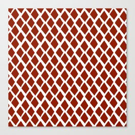 Rhombus Red And White Canvas Print