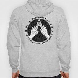 Me & Paranormal You - James Roper Design - Ouija B&W (black lettering) Hoody