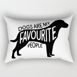Dogs are my favourite people - Labrador Rectangular Pillow