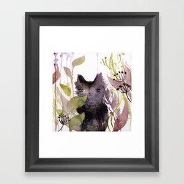 Adder in the Garden Framed Art Print