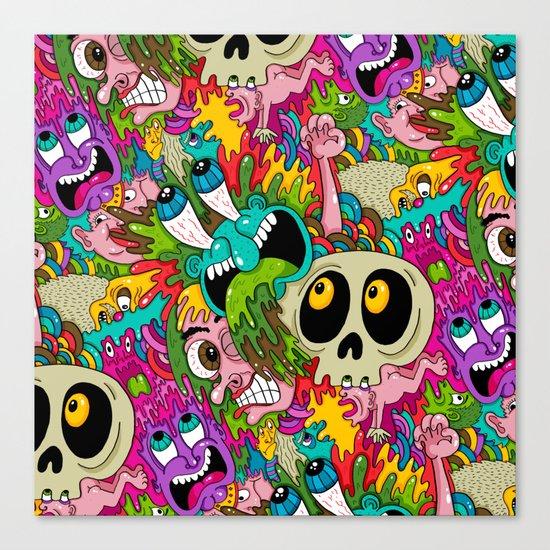 Puke Pattern Canvas Print