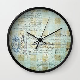 carnet de chèques Wall Clock