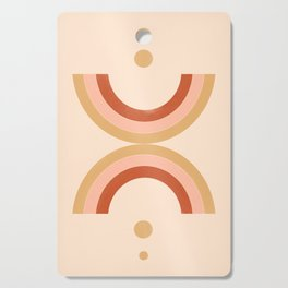 golden double rainbow Cutting Board
