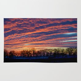 New Year's Sunset Rug