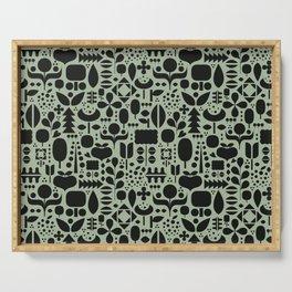 Organic motif pattern Serving Tray