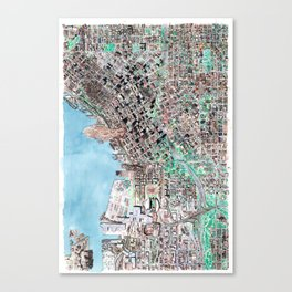 The Seattle Doomsday Map Canvas Print