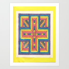 """""""Crossed in the Middle"""" Art Print"""