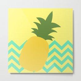 Pineapple Party Metal Print