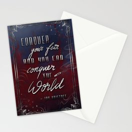 Conquer Your Fear Stationery Cards