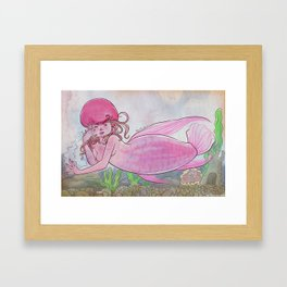 Flowerhorn Fish Mermaid Framed Art Print