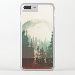 Moon Forest Clear iPhone Case