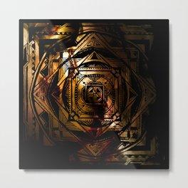Amber Metal Print
