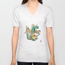 A Kobold in Dragon Clothing Unisex V-Neck
