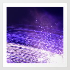 Purple galaxy Art Print