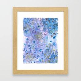 India vibe blue Framed Art Print