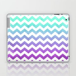 Purple Mint Aqua Ombre Chevron Pattern Laptop & iPad Skin