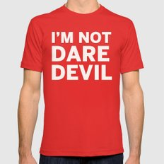 I'm Not Daredevil Mens Fitted Tee Red SMALL