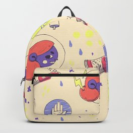 angry girl pattern Backpack