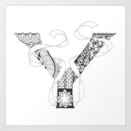 """Zenletter """"Y"""" Art Print"""