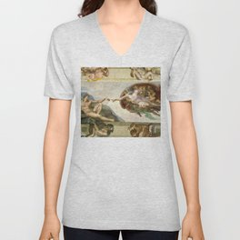 "Michelangelo ""Creation of Adam"" Unisex V-Neck"