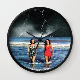 Storm's grasping fingers Wall Clock