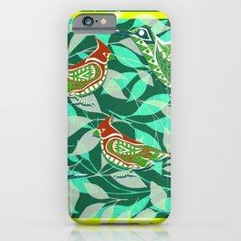 Green Bird lovers ecopop iPhone Case