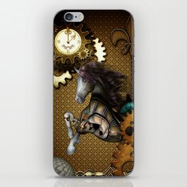 Steampunk, awesome steampunk horse iPhone Skin