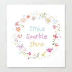 Smile, Sparkle, Shine Canvas Print