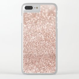 Sparkling Rose Gold Blush Glitter #2 #shiny #decor #art #society6 Clear iPhone Case