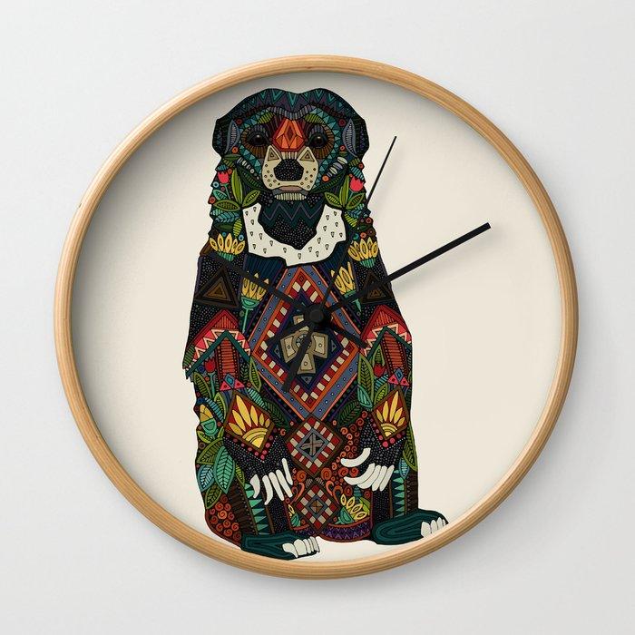 sun bear almond Wall Clock