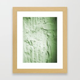 Damaged wall pic in background with green color, ready for clothes,furnitures, iphone cases Framed Art Print