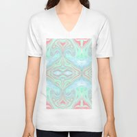 marble V-neck T-shirts featuring Marble by Amélie Haeck
