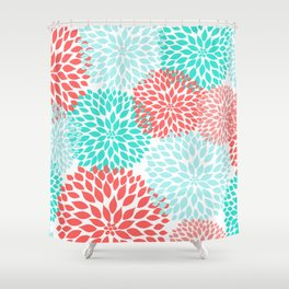 Pink Coral Shower Curtains | Society6