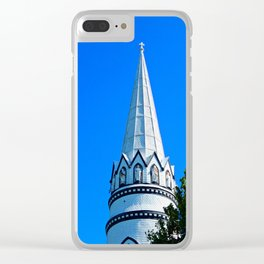 Church Steeple Statues Clear iPhone Case