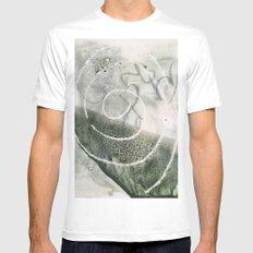 mystery swirl - monoprint Mens Fitted Tee MEDIUM White